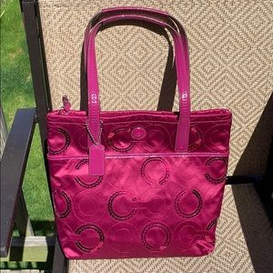 NWT Coach  passion berry colored SEQN TOTE